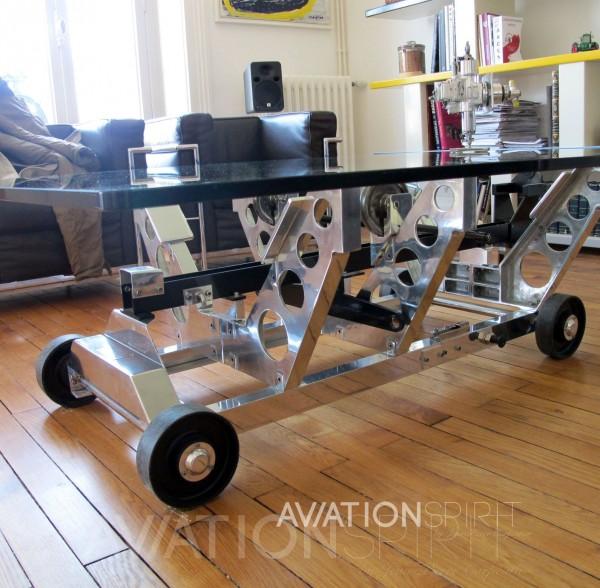 table basse design aviation spirit jean pierre. Black Bedroom Furniture Sets. Home Design Ideas